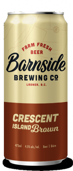 Crescent Island Brown by Barnside Brewing Co. in British Columbia, Canada