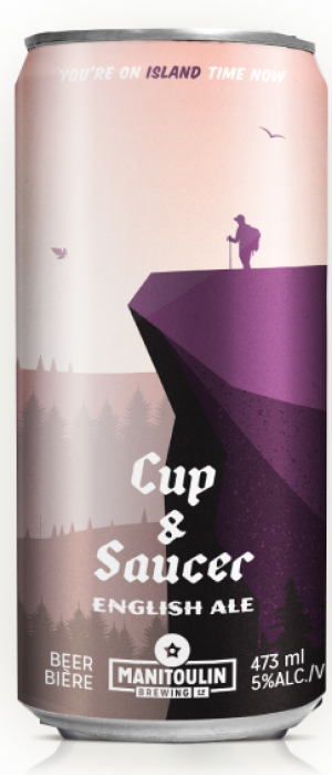 Cup & Saucer English Ale by Manitoulin Brewing Company in Ontario, Canada