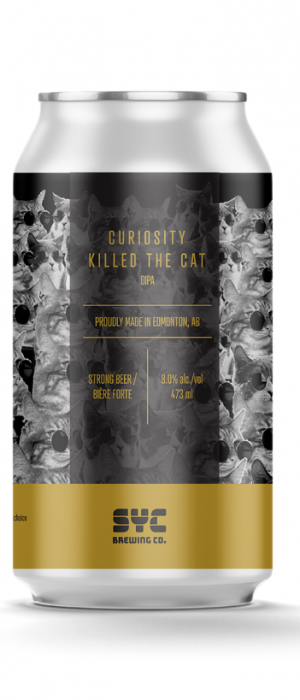 Curiosity Killed The Cat DIPA by S.Y.C. Brewing Co. in Alberta, Canada