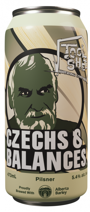 Czechs & Balances by Tool Shed Brewing Company in Alberta, Canada