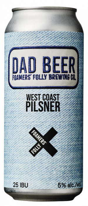 Dad Beer by Foamers' Folly Brewing Co. in British Columbia, Canada