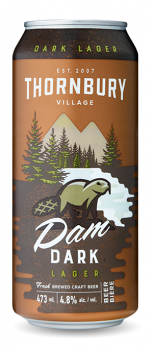Dam Dark Lager by Thornbury Village Cidery & Brewery in Ontario, Canada