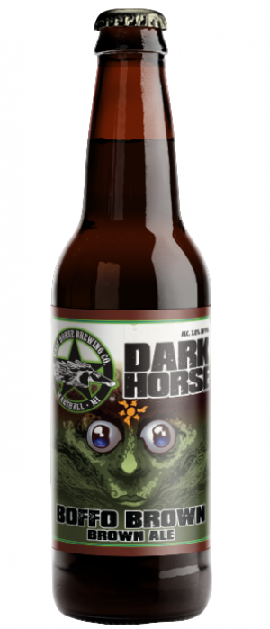 Boffo Brown Ale by Dark Horse Brewing Company in Michigan, United States
