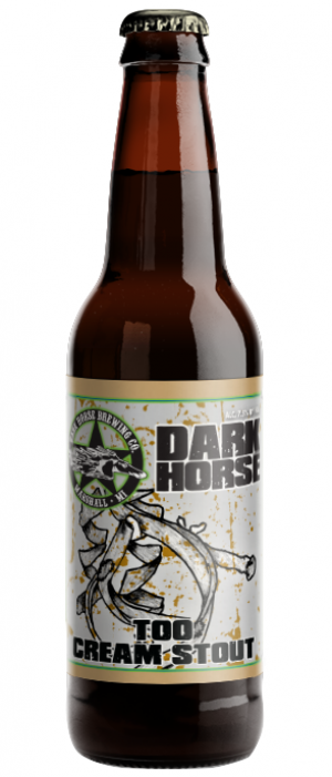 Too Cream Stout by Dark Horse Brewing Company in Michigan, United States