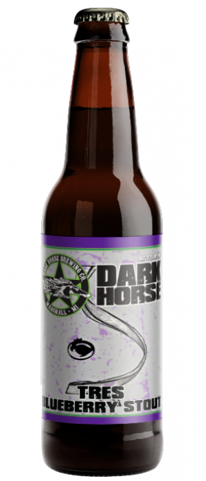 Tres Blueberry Stout by Dark Horse Brewing Company in Michigan, United States