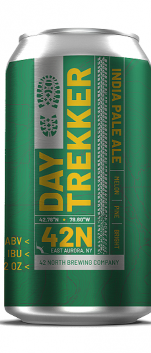 Day Trekker IPA by 42 North Brewing Company in New York, United States