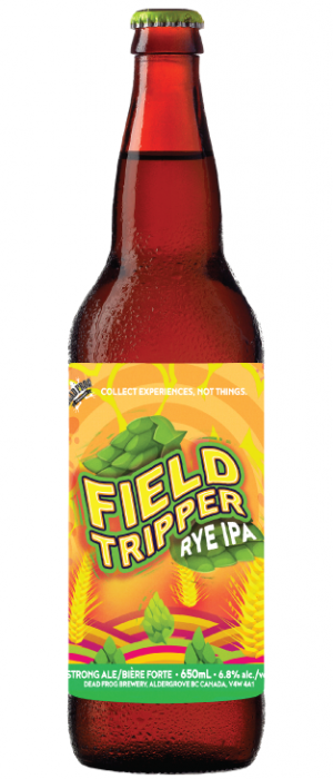 Field Tripper Rye IPA by Dead Frog Brewery in British Columbia, Canada