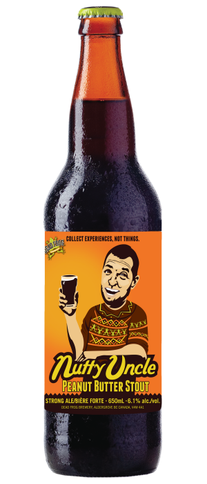 Nutty Uncle Peanut Butter Stout by Dead Frog Brewery in British Columbia, Canada
