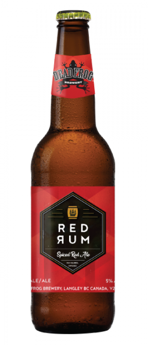 Red Rum Spiced Ale by Dead Frog Brewery in British Columbia, Canada