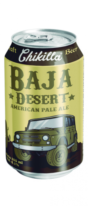 Desert Pale Ale by Chikilla Craft Beer in Baja California, Mexico