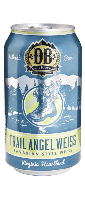 Trail Angel Weiss by Devils Backbone Brewing Company in Virginia, United States