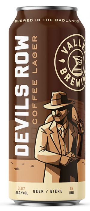 Devils Row Coffee Lager by Valley Brewing in Alberta, Canada