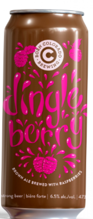 Dingle Berry Raspberry Brown Ale by Born Colorado Brewing in Alberta, Canada