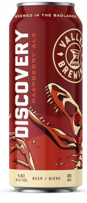Discovery Raspberry Ale by Valley Brewing in Alberta, Canada