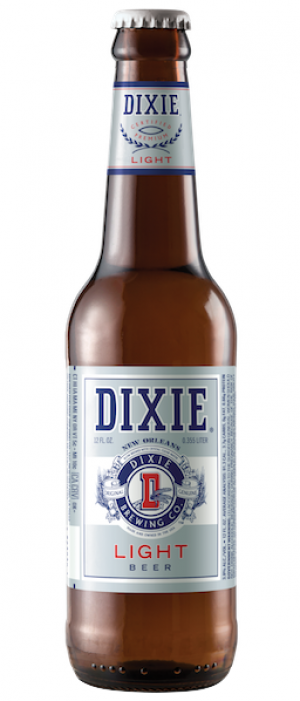 Dixie Light Beer by Dixie Brewing Company in Louisiana, United States