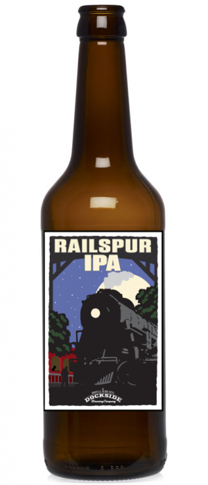 Railspur IPA by Dockside Brewing Company in British Columbia, Canada
