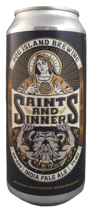 Saints & Sinners IPA by Dog Island Brewing in Alberta, Canada