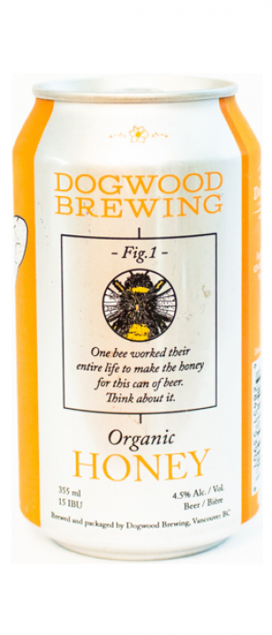 Organic Honey by Dogwood Brewing in British Columbia, Canada