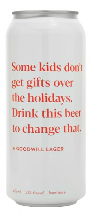 Goodwill Lager by Donnelly Group in British Columbia, Canada