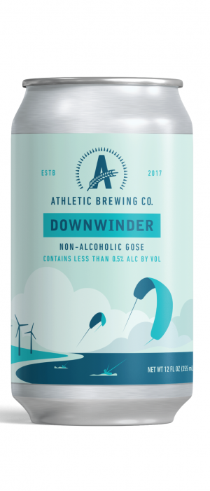 Downwinder Non-Alcoholic Gose by Athletic Brewing Company in Connecticut, United States