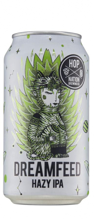 Dreamfeed Hazy IPA by Hop Nation Brewing Co. in Victoria, Australia