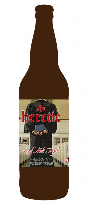 The Heretic Tripel by Driftwood Brewery in British Columbia, Canada