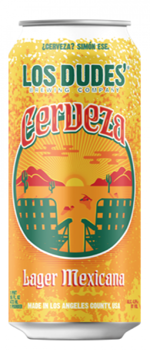 Los Dudes' Cerveza by The Dudes' Brewing Company in California, United States