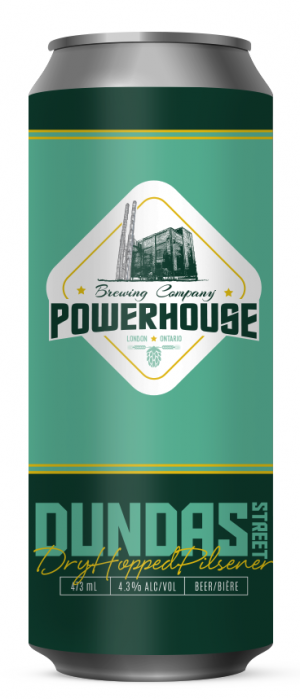 Dundas Street Dry Hopped Pilsner by Powerhouse Brewing Company in Ontario, Canada