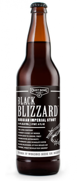 Black Blizzard Russian Imperial Stout by Dust Bowl Brewing in California, United States