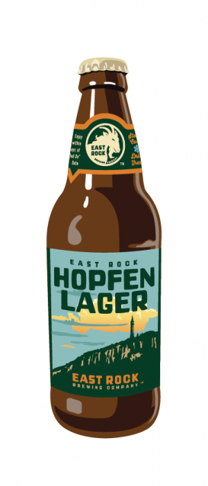 Hopfen Lager by East Rock Brewing Company in Connecticut, United States