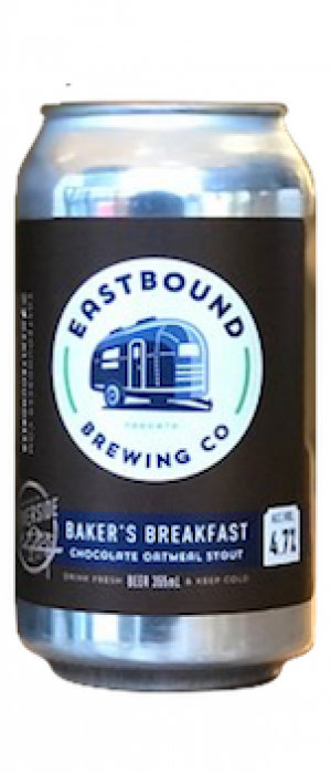 Baker's Breakfast Chocolate Oatmeal Stout by Eastbound Brewing Company in Ontario, Canada