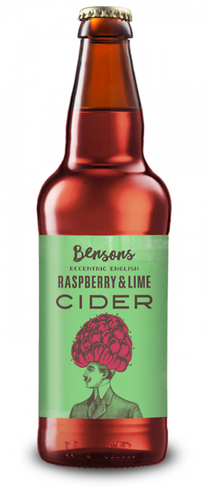 Eccentric English Cider with Raspberry & Lime by Bensons the Juicers in Gloucestershire - England, United Kingdom