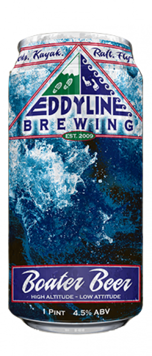 Boater Beer Pilsner by Eddyline Brewery in Colorado, United States