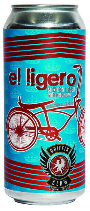 El Ligero Mexican Lager with Lime by Griffin Claw Brewing Company in Michigan, United States