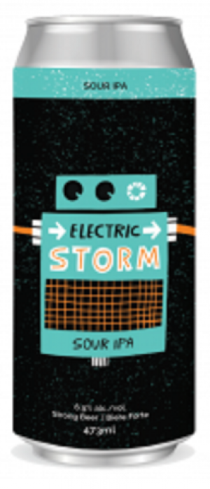 Electric Storm Sour IPA by Sawdust City Brewing Company in Ontario, Canada