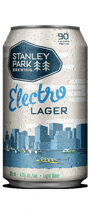 Electro Lager by Stanley Park Brewing in British Columbia, Canada