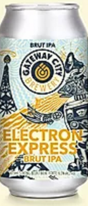 Electron Express Brut IPA by Gateway City Brewery in Ontario, Canada
