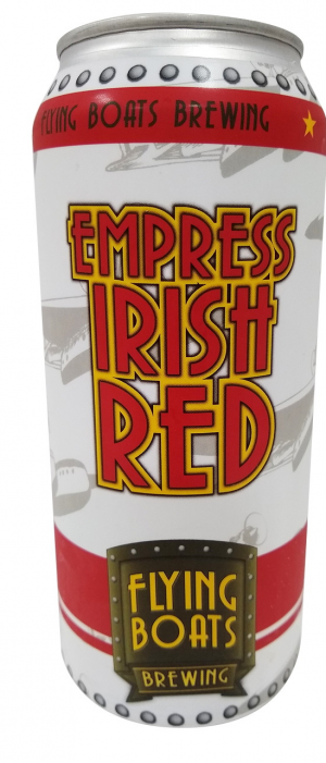 Empress Irish Red Ale by Flying Boats Brewing in New Brunswick, Canada