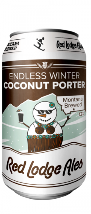 Endless Winter Coconut Porter by Red Lodge Ales Brewing Company in Montana, United States