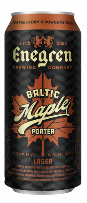 Baltic Maple Porter by Enegren Brewing Company in California, United States