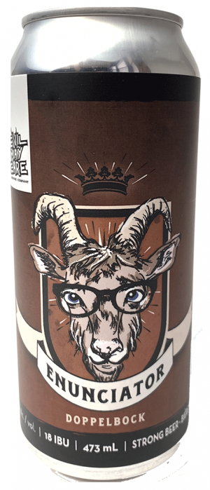 Enunicator Dopplebock by Devil May Care Brewing Company in Manitoba, Canada
