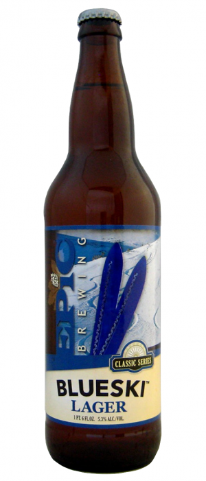 Blue Ski Lager by Epic Brewing Company in Utah, United States