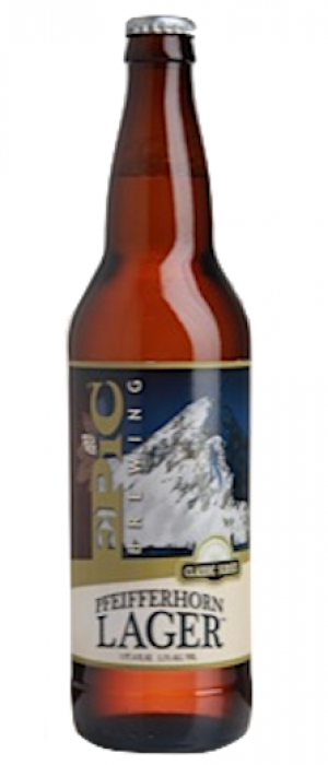 Pfeifferhorn Lager Beer by Epic Brewing Company in Utah, United States