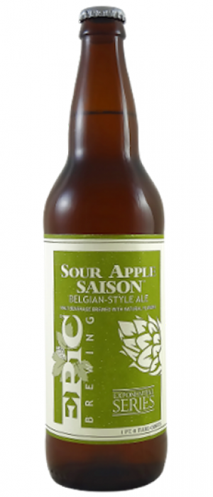 Sour Apple Saison by Epic Brewing Company in Utah, United States