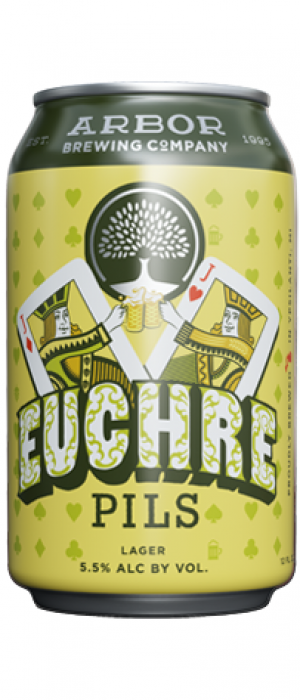 Euchre Pils by Arbor Brewing Company in Michigan, United States