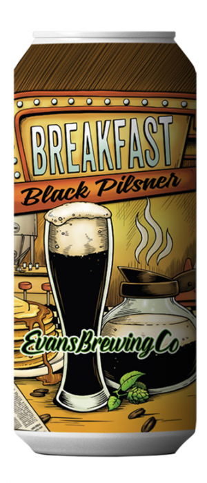Breakfast Black Pilsner by Evans Brewing Company in California, United States