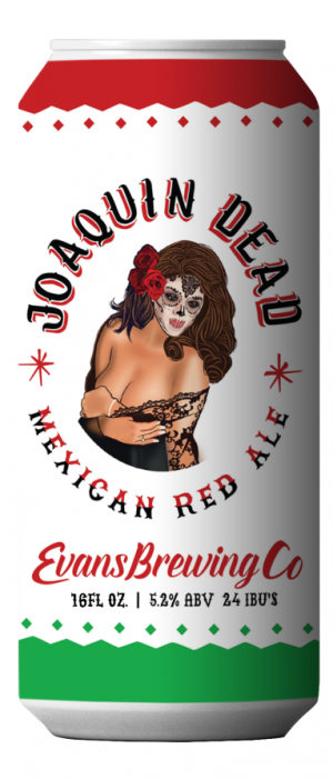 Joaquin Dead Mexican Red Ale by Evans Brewing Company in California, United States