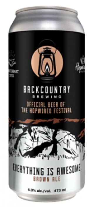 Everything is Awesome by Backcountry Brewing in British Columbia, Canada