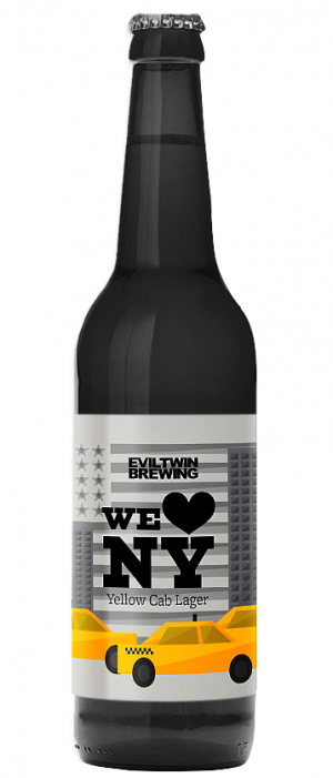 We (Heart) NY Yellow Cab Lager by Evil Twin Brewing in New York, United States