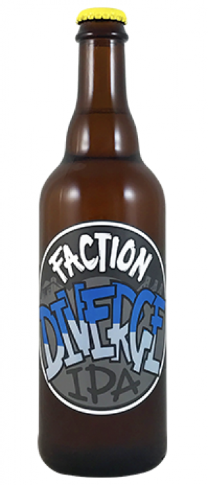 Diverge IPA by Faction Brewing in California, United States